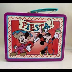 Disney Mickey/Minnie Fiesta! Metal Lunch Box
